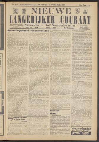 Nieuwe Langedijker Courant 1930-10-14