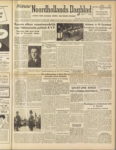 Nieuw Noordhollandsch Dagblad : voor Alkmaar en omgeving 1949-11-14