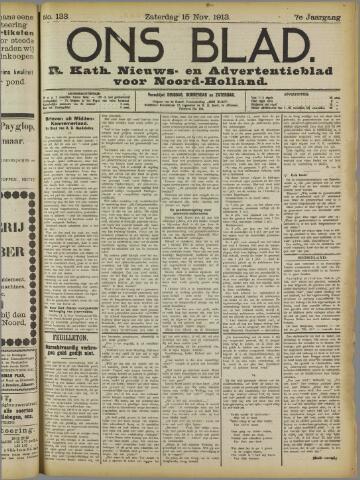Ons Blad : katholiek nieuwsblad voor N-H 1913-11-15