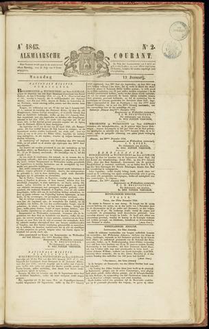 Alkmaarsche Courant 1845-01-13