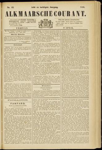 Alkmaarsche Courant 1886-04-09