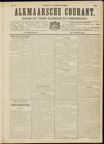 Alkmaarsche Courant 1912-02-22