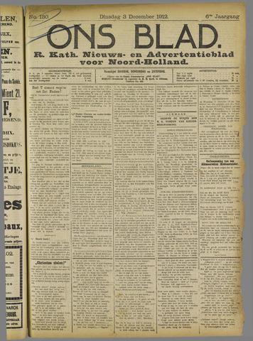 Ons Blad : katholiek nieuwsblad voor N-H 1912-12-03