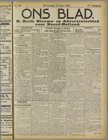 Ons Blad : katholiek nieuwsblad voor N-H 1910-04-13