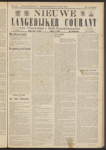 Nieuwe Langedijker Courant 1932-07-21