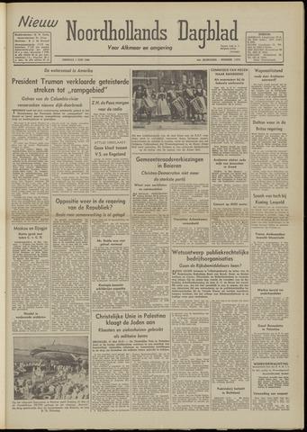 Nieuw Noordhollandsch Dagblad : voor Alkmaar en omgeving 1948-06-01