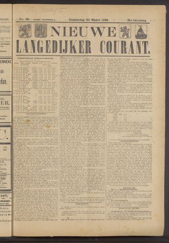 Nieuwe Langedijker Courant 1922-03-23