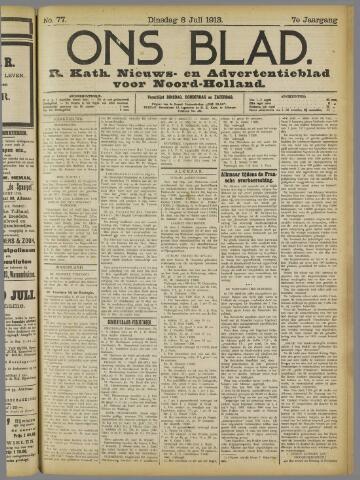 Ons Blad : katholiek nieuwsblad voor N-H 1913-07-08