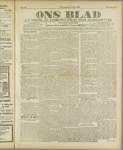 Ons Blad : katholiek nieuwsblad voor N-H 1920-07-21