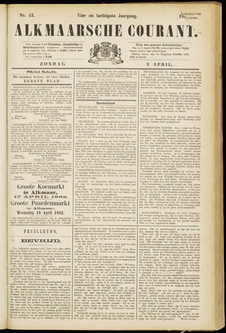 Alkmaarsche Courant 1882-04-09