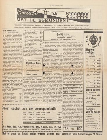 Contact met de Egmonden 1965-03-04
