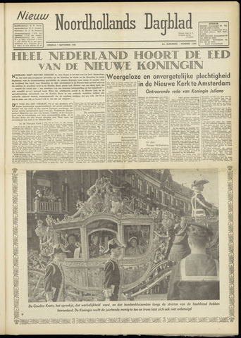 Nieuw Noordhollandsch Dagblad : voor Alkmaar en omgeving 1948-09-07