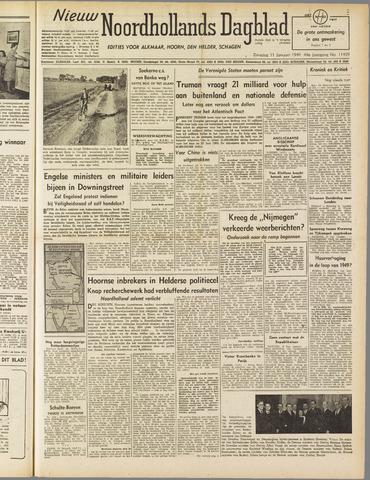 Nieuw Noordhollandsch Dagblad : voor Alkmaar en omgeving 1949-01-11