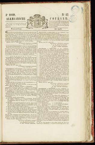 Alkmaarsche Courant 1848-04-24