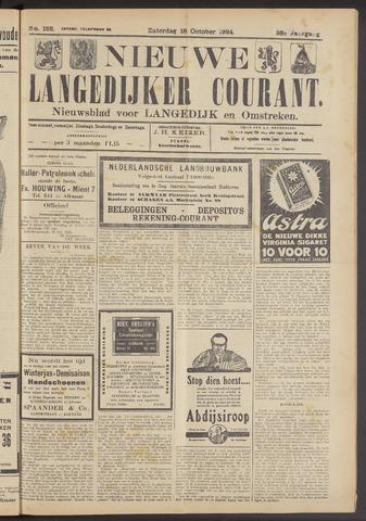 Nieuwe Langedijker Courant 1924-10-18