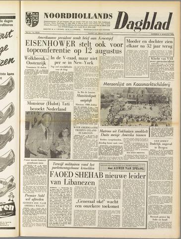 Noordhollands Dagblad : dagblad voor Alkmaar en omgeving 1958-08-02