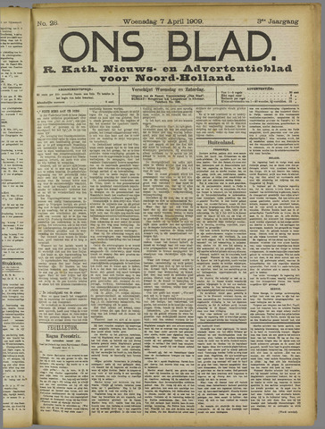 Ons Blad : katholiek nieuwsblad voor N-H 1909-04-07