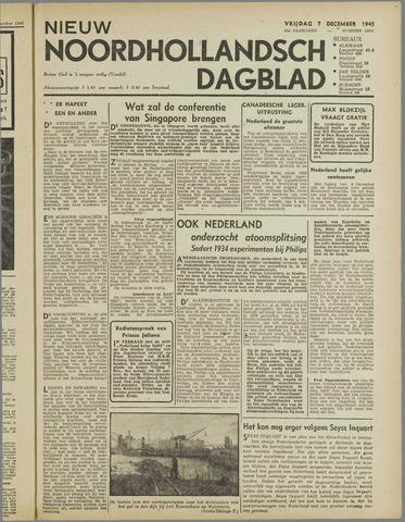 Nieuw Noordhollandsch Dagblad : voor Alkmaar en omgeving 1945-12-07