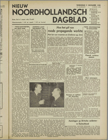 Nieuw Noordhollandsch Dagblad : voor Alkmaar en omgeving 1945-12-05