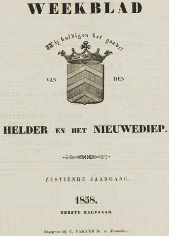 Weekblad van Den Helder en het Nieuwediep 1858-01-01