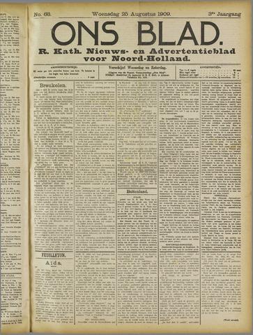 Ons Blad : katholiek nieuwsblad voor N-H 1909-08-25