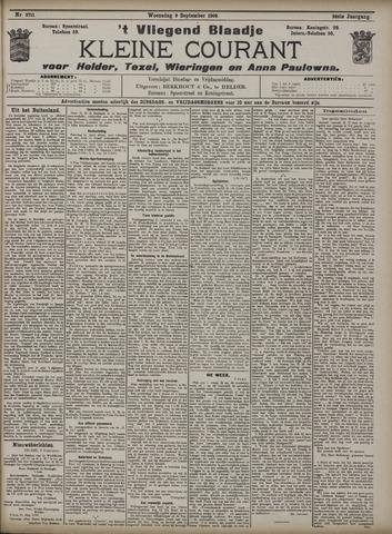 Vliegend blaadje : nieuws- en advertentiebode voor Den Helder 1908-09-09