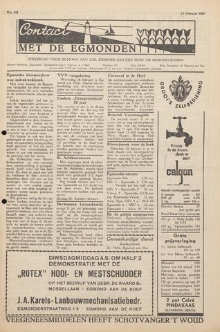 Contact met de Egmonden 1962-02-22