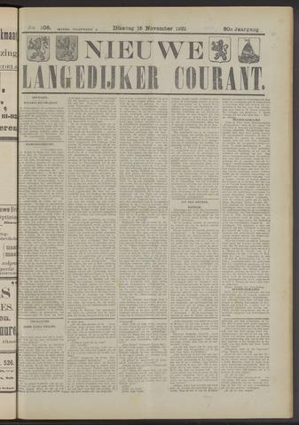 Nieuwe Langedijker Courant 1921-11-15