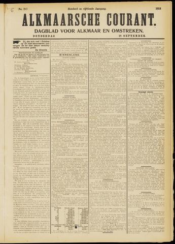 Alkmaarsche Courant 1913-09-18