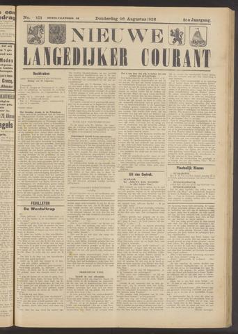 Nieuwe Langedijker Courant 1926-08-26
