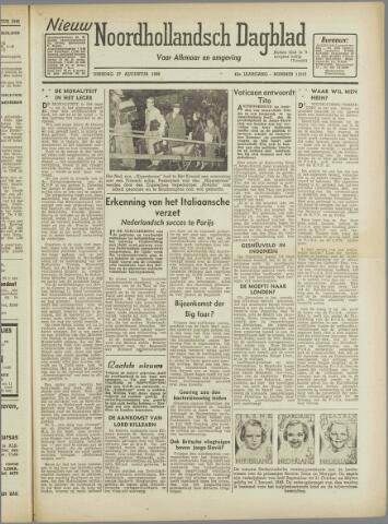 Nieuw Noordhollandsch Dagblad : voor Alkmaar en omgeving 1946-08-27