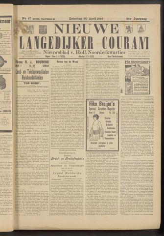 Nieuwe Langedijker Courant 1929-04-20