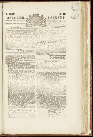 Alkmaarsche Courant 1849-03-05