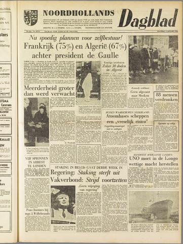 Noordhollands Dagblad : dagblad voor Alkmaar en omgeving 1961-01-09