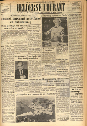 Heldersche Courant 1953-09-30