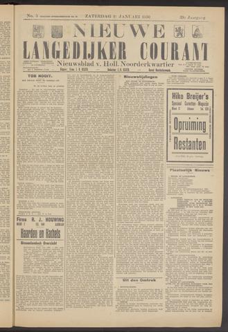 Nieuwe Langedijker Courant 1930-01-11