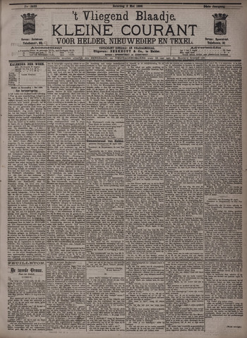 Vliegend blaadje : nieuws- en advertentiebode voor Den Helder 1896-05-02