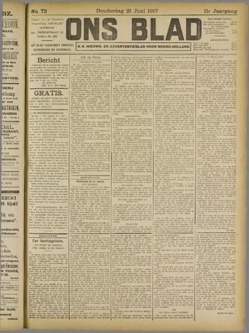 Ons Blad : katholiek nieuwsblad voor N-H 1917-06-21