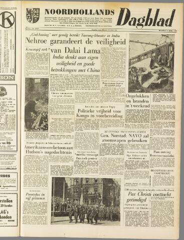 Noordhollands Dagblad : dagblad voor Alkmaar en omgeving 1959-04-06