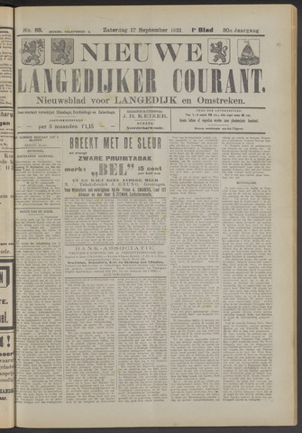 Nieuwe Langedijker Courant 1921-09-17