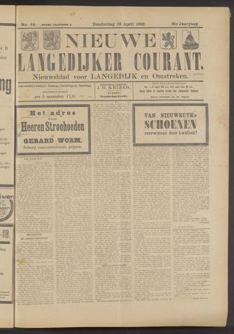 Nieuwe Langedijker Courant 1922-04-13