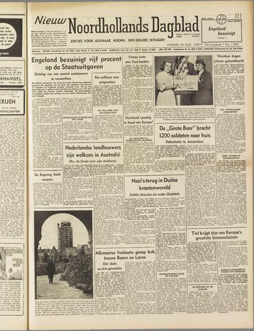 Nieuw Noordhollandsch Dagblad : voor Alkmaar en omgeving 1949-08-26
