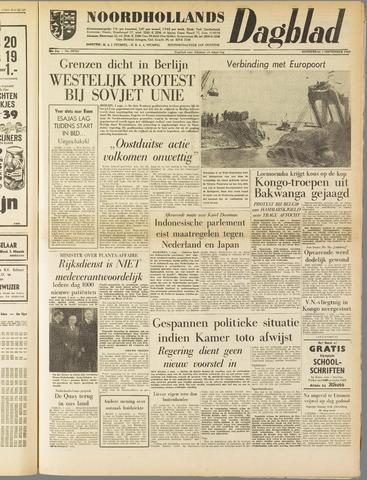 Noordhollands Dagblad : dagblad voor Alkmaar en omgeving 1960-09-01