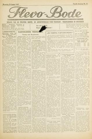 Flevo-bode: nieuwsblad voor Wieringen-Wieringermeer 1947-01-29