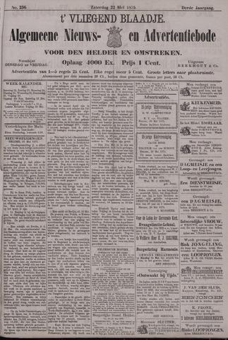 Vliegend blaadje : nieuws- en advertentiebode voor Den Helder 1875-05-22