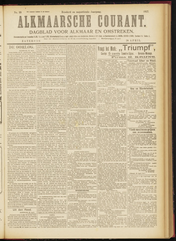 Alkmaarsche Courant 1917-04-28