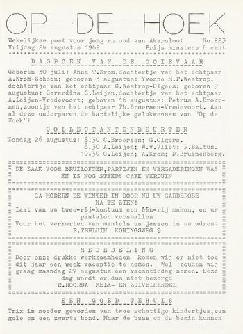 Op De Hoek, weekblad voor Akersloot 1962-08-24