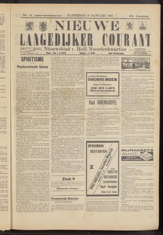 Nieuwe Langedijker Courant 1931-01-31