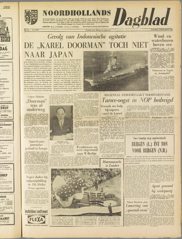 Noordhollands Dagblad : dagblad voor Alkmaar en omgeving 1960-09-05