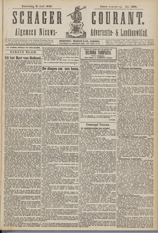 Schager Courant 1920-07-31